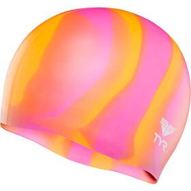 TYR Silicone Badehætte orange/pink